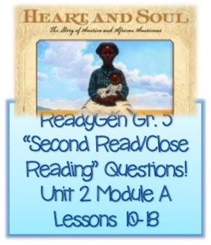ReadyGen Grade 5 Questions for Unit 2 Module A Lessons 10-18