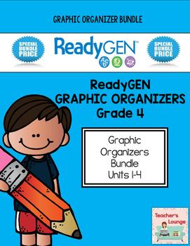 ReadyGen Graphic Organizers - BUNDLED - Grade 4