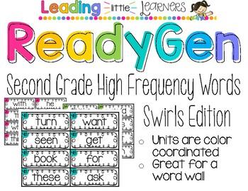 ReadyGen High Frequency Words  Swirls Second Grade