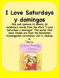ReadyGen I Love Saturdays y domingos Vocabulary Kindergart
