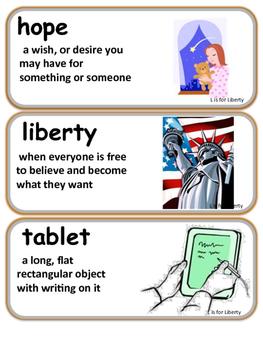 ReadyGen L is for Liberty Vocabulary 1st Grade Unit 6 Module B