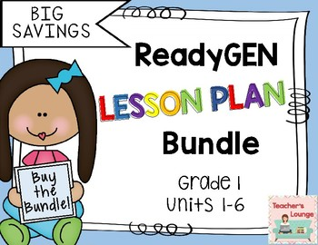 ReadyGen Lesson Plans 2016 - BUNDLED - Grade 1