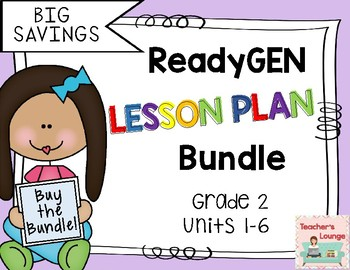 ReadyGen Lesson Plans 2016 - BUNDLED - Grade 2