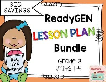 ReadyGen Lesson Plans 2016 - BUNDLED - Grade 3