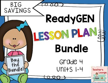 ReadyGen Lesson Plans 2016 - BUNDLED - Grade 4