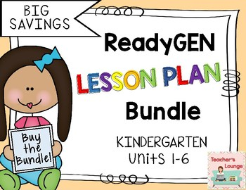 ReadyGen Lesson Plans - BUNDLED - Grade Kindergarten
