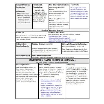 ReadyGen Lesson Plans Unit 1 Module A  - Word Wall Cards - EDITABLE -Grade 1