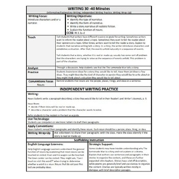 ReadyGen Lesson Plans Unit 1 Module B  - Word Wall Cards - EDITABLE -Grade 1