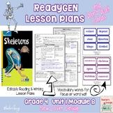 ReadyGen 2014-15 Lesson Plans Unit 1 Module B -Word Wall Cards-EDITABLE- Grade 4