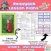 ReadyGen Lesson Plans Unit 1 Module B  - Word Wall Cards - EDITABLE -Grade 5
