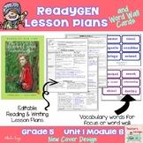 ReadyGen Lesson Plans Unit 1 Module B  - Word Wall Cards - EDITABLE -Grade 5