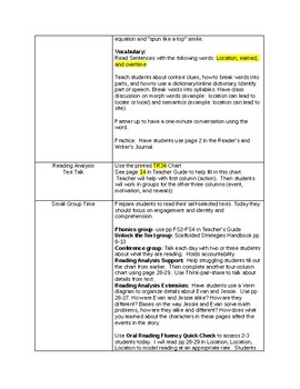 ReadyGen Lesson Plans Unit 1 third grade