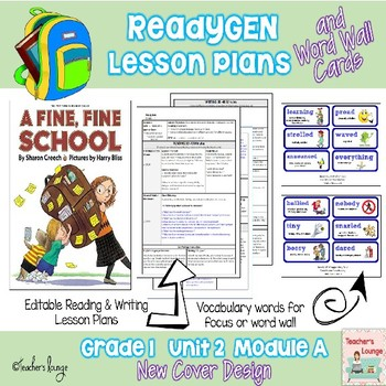ReadyGen Lesson Plans Unit 2 Module A  - Word Wall Cards - EDITABLE -Grade 1