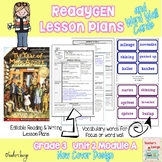 ReadyGen Lesson Plans Unit 2 Module A  -Word Wall Cards- E