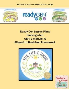 ReadyGen Lesson Plans Unit 2 Module A - Word Wall Cards - EDITABLE -Kindergarten