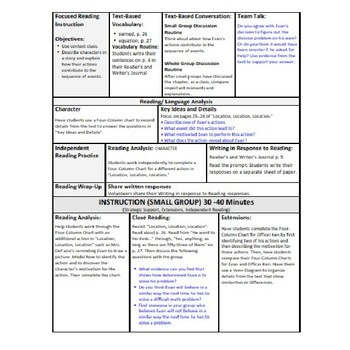 ReadyGen Lesson Plans Unit 3 Module A  - Word Wall Cards - EDITABLE -Grade 1