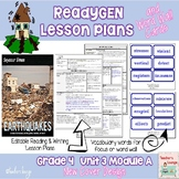 ReadyGen 2014-15 Lesson Plans Unit 3 Module A -Word Wall Cards-EDITABLE- Grade 4