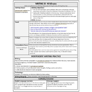 ReadyGen Lesson Plans Unit 3 Module A  - Word Wall Cards - EDITABLE -Grade 5