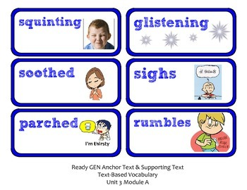 ReadyGen Lesson Plans Unit 3 Module A - Word Wall Cards - EDITABLE -Kindergarten
