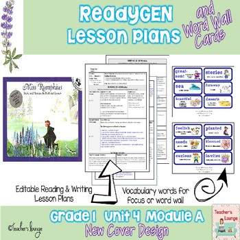 ReadyGen Lesson Plans Unit 4 Module A  - Word Wall Cards - EDITABLE -Grade 1