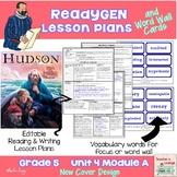 ReadyGen Lesson Plans Unit 4 Module A  - Word Wall Cards - EDITABLE -Grade 5