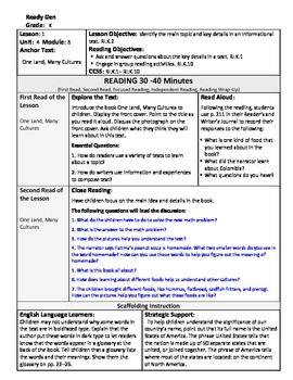 ReadyGen Lesson Plans Unit 4 Module B - Word Wall Cards - EDITABLE -Kindergarten