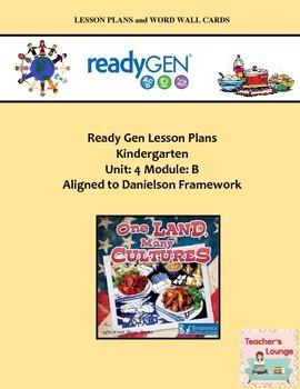 ReadyGen Lesson Plans Unit 4 Module B - Word Wall Cards -