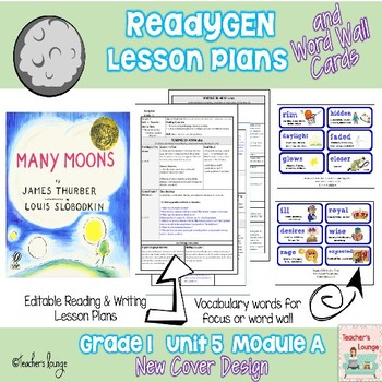 ReadyGen Lesson Plans Unit 5 Module A  - Word Wall Cards - EDITABLE -Grade 1