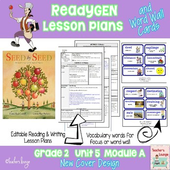 ReadyGen Lesson Plans Unit 5 Module A  - Word Wall Cards - EDITABLE -Grade 2