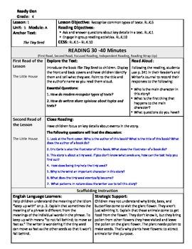 ReadyGen Lesson Plans Unit 5 Module A - Word Wall Cards - EDITABLE -Kindergarten