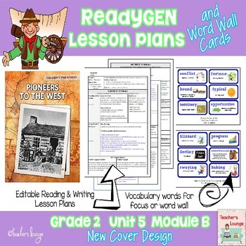 ReadyGen Lesson Plans Unit 5 Module B  - Word Wall Cards - EDITABLE -Grade 2