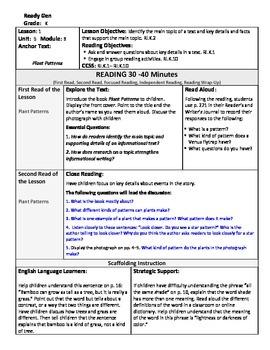 ReadyGen Lesson Plans Unit 5 Module B - Word Wall Cards - EDITABLE -Kindergarten