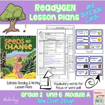 ReadyGen Lesson Plans Unit 6 Module A  - Word Wall Cards - EDITABLE -Grade 2