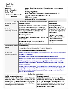 ReadyGen Lesson Plans Unit 6 Module A - Word Wall Cards - EDITABLE -Kindergarten