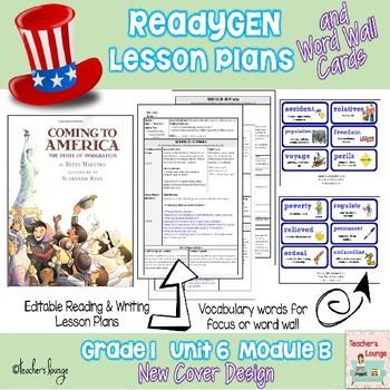 ReadyGen Lesson Plans Unit 6 Module B - Word Wall Cards - EDITABLE -Grade 1