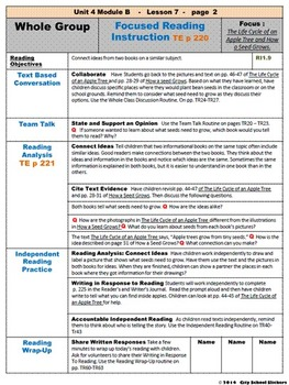 ReadyGen: Lesson Plans for First Grade : Unit 4 B Lessons 7 - 12