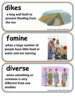 ReadyGen Living Through a Natural Disaster Vocabulary 3rd Grade Unit 3 Module B