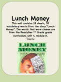 ReadyGen Lunch Money Vocabulary 4th Grade Unit 4 Module A