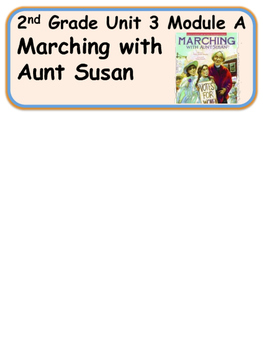 ReadyGen Marching with Aunt Susan Vocabulary 2nd Grade Unit 3 Module A