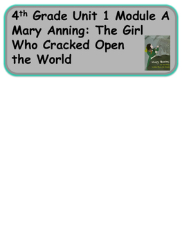 ReadyGen Mary Anning: The Girl Who Cracked Open the World Vocabulary Unit 1