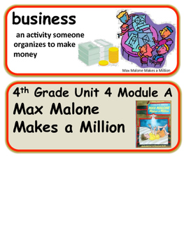 ReadyGen Max Malone Makes a Million Vocabulary 4th Grade Unit 4 Module A