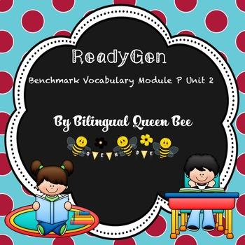 ReadyGen Module P Unit 2 Benchmark Vocabulary
