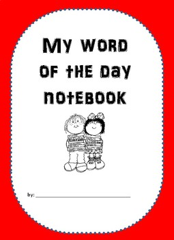 ReadyGen My word or the day notebook