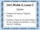 ReadyGen Objectives Wall Cards Unit 1 Module A Lessons 1-18