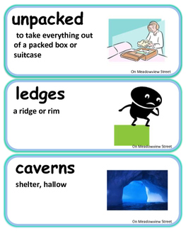 ReadyGen On Meadowview Street Vocabulary 2nd Grade unit 6 Module 6