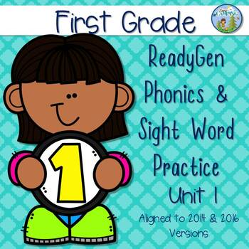 ReadyGen (Ready Gen) Phonics Unit 1 First Grade 2014 & 2016