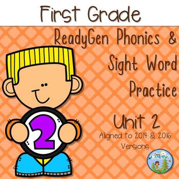 ReadyGen (Ready Gen) Phonics Unit 2 First Grade 2014 & 2016