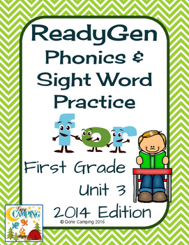 ReadyGen (Ready Gen) Phonics Unit 3 First Grade 2014