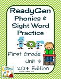 ReadyGen (Ready Gen) Phonics Unit 3 First Grade 2014