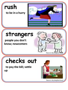 ReadyGen Places in My Neighborhood Vocabulary Kindergarten Unit 6 Module A